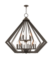 Picture for category Livex Lighting 40928-07 Pendants Bronze Steel 10-light
