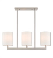 Picture for category Livex Lighting 42404-91 Island Lighting 8in Brushed Nickel Steel 3-light