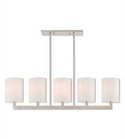 Picture for category Livex Lighting 42406-91 Island Lighting 8in Brushed Nickel Steel 5-light