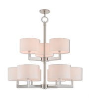 Picture for category Livex Lighting 42409-91 Pendants Brushed Nickel Steel 6-light