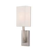 Picture for category Livex Lighting 42411-91 Wall Sconces 6in Brushed Nickel Steel 1-light