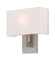 Picture for category Livex Lighting 42412-91 Wall Sconces 11in Brushed Nickel Steel 1-light