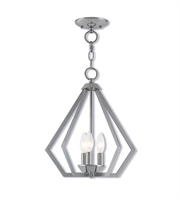 Picture for category Mini Chandeliers 3 Light With Polished Chrome Clear Candelabra Base 14 inches 120 Watts - World of Crystal