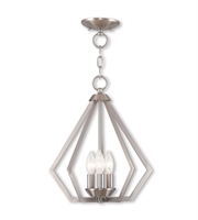 Picture for category Mini Chandeliers 3 Light With Brushed Nickel Clear Candelabra Base 14 inches 120 Watts - World of Crystal