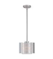 Picture for category Mini Pendants 1 Light With Polished Chrome Finish Steel Medium Base 5 inch 100 Watts - World of Crystal