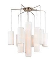 Picture for category Pendants 6 Light With Brushed Nickel Finish Steel Medium 45 inch 240 Watts - World of Crystal