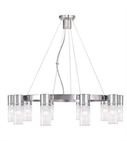 Picture for category World of Crystal Boston Chandeliers 5in Polished Chrome 10-light