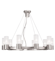 Picture for category World of Crystal Boston Chandeliers 5in Brushed Nickel 10-light
