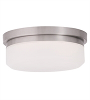 Picture for category Flush Mounts 1 Light With Brushed Nickel Finish LED 11 inch 13 Watts - World of Crystal