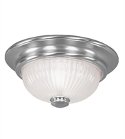 Picture for category Semi Flush Mounts 2 Light With Brushed Nickel Finish Medium Base 12 inch 80 Watts - World of Crystal