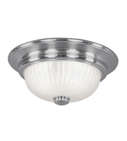 Picture for category Semi Flush Mounts 2 Light With Brushed Nickel Finish Medium Base 14 inch 120 Watts - World of Crystal