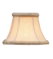 Picture for category Lighting Shades With Cream Pinstripe Square Clip Shade with Fancy Trim 3 inch - World of Crystal