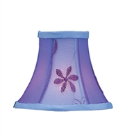 Picture for category Lighting Shades With Violet Embroidered Floral Finish Bell Clip 3 inch - World of Crystal