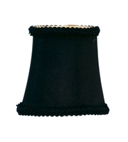 Picture for category Lighting Shades With Black Finish Bell Clip with Fancy Trim 3 inch - World of Crystal