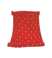 Picture for category Lighting Shades With Red/Gold Finished Bell Clip Shade 3 inch - World of Crystal