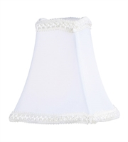 Picture for category Lighting Shades With White Fancy Square Silk Clip Shade 2 inch - World of Crystal