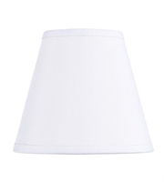 Picture for category Lighting Shades With Off White Finish Hardback Clip Shade 3 inch - World of Crystal