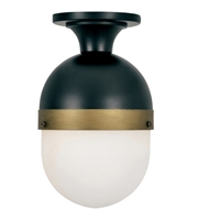 Picture for category Crystorama Lighting CAP-8500-MK-TG Outdoor Wall Sconces Matte Black and Textured Gold Glass and Steel Capsule
