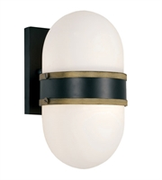 Picture for category Crystorama Lighting CAP-8501-MK-TG Wall Sconces Matte Black and Textured Gold Glass and Steel Capsule