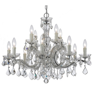 Picture of World of Lighting WL121828 Chandeliers Polished Chrome Wrought Iron Elizabeth