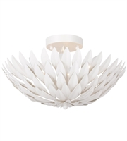 "Picture for category Semi Flush 4 Light Fixtures With Matte White Finish Wrought Iron Material Candelabra 16"" 240 Watts"