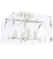"Picture for category Semi Flush 4 Light Fixtures With Polished Nickel Finish Steel Material Candelabra 15"" 240 Watts"