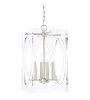 "Picture for category Chandeliers 4 Light Fixtures With Polished Nickel Finish Steel Material Candelabra 12"" 240 Watts"