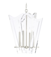 "Picture for category Chandeliers 4 Light Fixtures With Polished Nickel Finish Steel Material Candelabra 21"" 240 Watts"