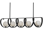 "Picture for category Chandeliers 5 Light Fixtures With Matte Black Finish Wrought Iron Material Medium 46"" 300 Watts"