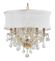 Picture for category World of Lighting WL2163 Chandeliers Gold Glass Santa Clarita