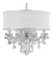 "Picture for category Chandeliers 12 Light Fixtures With Polished Chrome Finish Glass Material Candelabra 30"" 720 Watts"