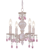 Picture for category World of Lighting WL2861 Mini Chandeliers Antique White Wrought Iron Detroit
