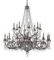 "Picture for category Chandeliers 20 Light Fixtures With English Bronze Finish Wrought Iron Material Candelabra 60"" 800 Watts"