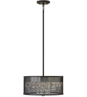 Picture for category Pendants 4 Light With Black Finish Steel Material Candelabra Base 15 inch 240 Watts