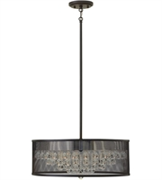 Picture for category Pendants 5 Light With Black Finish Steel Material Candelabra Base 20 inch 300 Watts