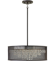 Picture for category Pendants 6 Light With Black Finish Steel Material Candelabra Base 25 inch 360 Watts