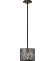 Picture for category Pendants 2 Light With Black Finish Steel Material Candelabra Base 8 inch 120 Watts