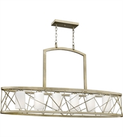 Picture for category Island 6 Light With Silver Leaf Finish Metal Material Medium Base 48 inch 450 Watts