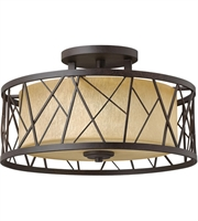 Picture for category Semi Flush 3 Light With Oil Rubbed Bronze Finish Metal Material Medium Base 20 inch 225 Watts
