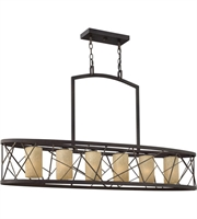 Picture for category Island 6 Light With Oil Rubbed Bronze Finish Metal Material Medium Base 48 inch 450 Watts