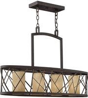 Picture for category Island 4 Light With Oil Rubbed Bronze Finish Metal Material Medium Base 32 inch 400 Watts