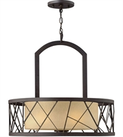 Picture for category Chandeliers 3 Light With Oil Rubbed Bronze Finish Metal Material Medium Base 24 inch 300 Watts