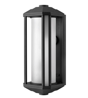 Picture for category Wall Sconces 1 Light With Black Ribbed Etched Cylinder Cast Aluminum LESM-100 18 inch 15 Watts