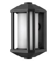 Picture for category Wall Sconces 1 Light With Black Ribbed Etched Cylinder Cast Aluminum LESM-100 12 inch 15 Watts