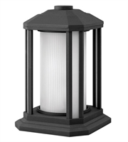Picture for category Outdoor Post 1 Light With Black Ribbed Etched Cylinder Cast Aluminum LESM-100 13 inch 15 Watts