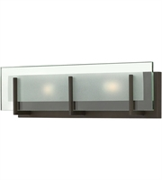 "Picture for category Bathroom Vanity 2 Light Fixtures With Oil Rubbed Bronze Finish Steel Material G9 18"" 120 Watts"