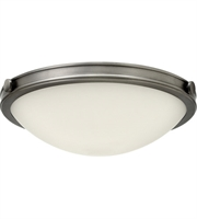 "Picture for category Antique Nickel Tone Finished Flush Mounts 14"" Wide Steel Medium 2 Light Fixture"