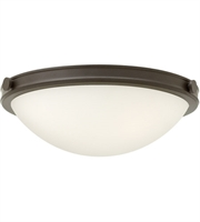 "Picture for category Oil Rubbed Bronze Tone Finish Flush Mounts 19"" Wide Steel Medium 3 Light Fixture"