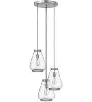 Picture for category Pendants 3 Light With Brushed Nickel Finish Steel Medium Base 21 inch 300 Watts