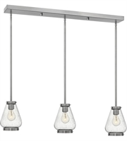 "Picture for category Pendants 3 Light Fixtures With Brushed Nickel Finish Steel Material Medium 36"" 300 Watts"
